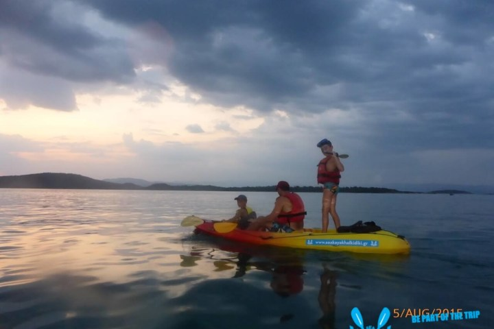 Sunset Paddling in Vourvourou bay