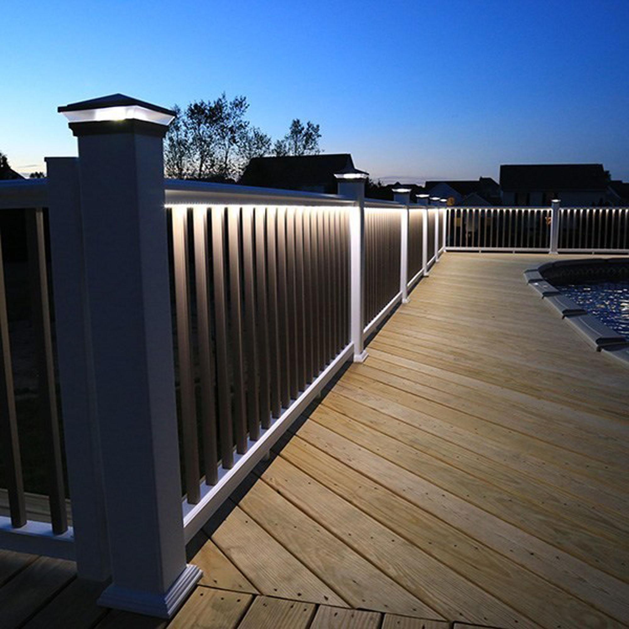 deck railing lights led solar