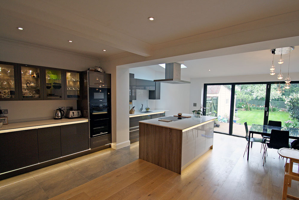 White Kitchen Open Plan