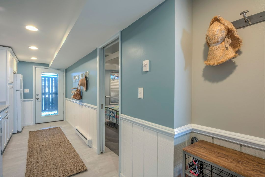 Renovation in Campbell Place, Bethany Beach DE - Hallway with Driftwood Gray McCormick Wall Paint