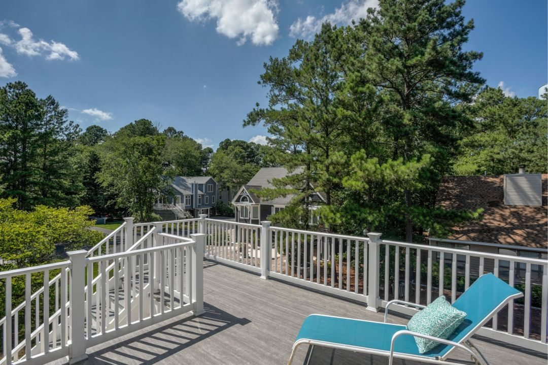 Deck Addition in Canal Drive, Millsboro DE with White Railing