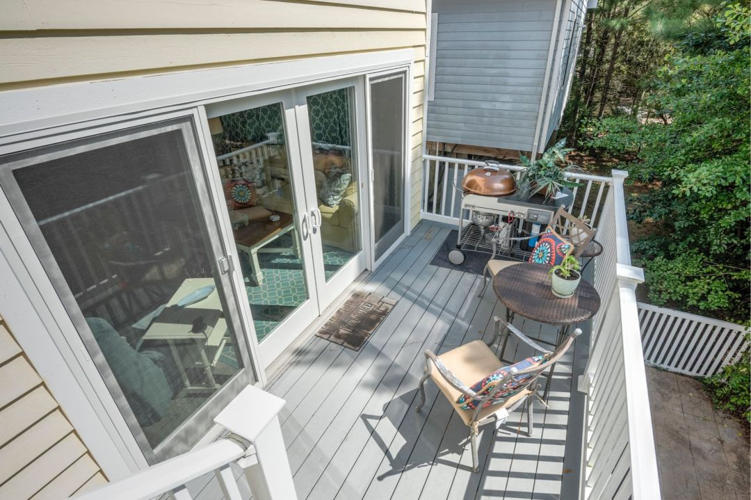 Renovation in Canal Drive, Millsboro DE - Deck with Large Glass Doors