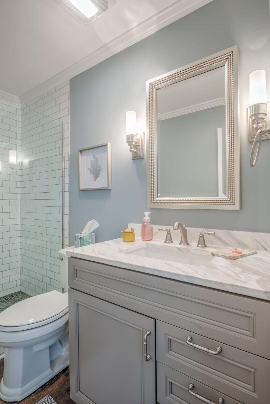 Bathroom Remodel in Kings Grant, Fenwick Island DE with Misty Memories Wall Paint