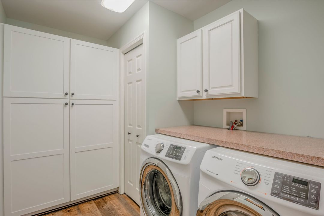 Kitchen Remodel in Velta Drive, Ocean View DE - Laundry Area with White Closet