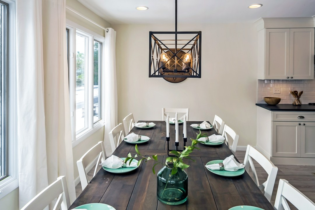 Custom Made Dining Table for Ten in Wellington Parkway, Bethany Beach DE Renovation