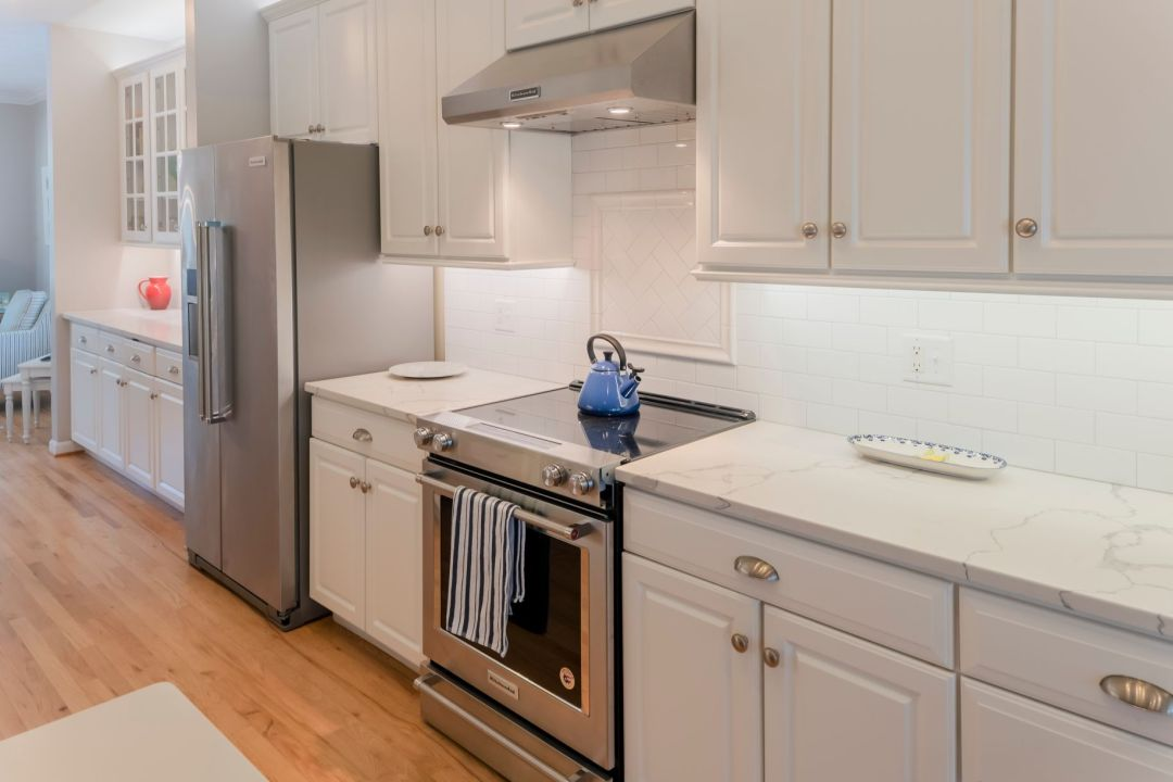 Kitchen Remodel in Willow Oak, Ocean View DE with Brushed Stainless Steel Appliances