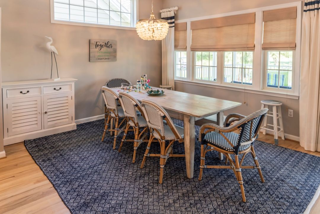 Kitchen Remodel in Willow Oak, Ocean View DE with Window-side Vintage Dining Table with Five Chairs