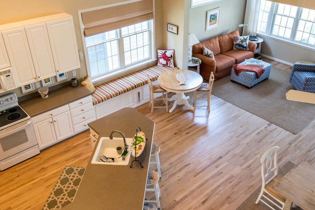 Willow Oak New Addition in Bear Trap Dunes, Ocean View DE Extended Family Room Kitchen Area Top View