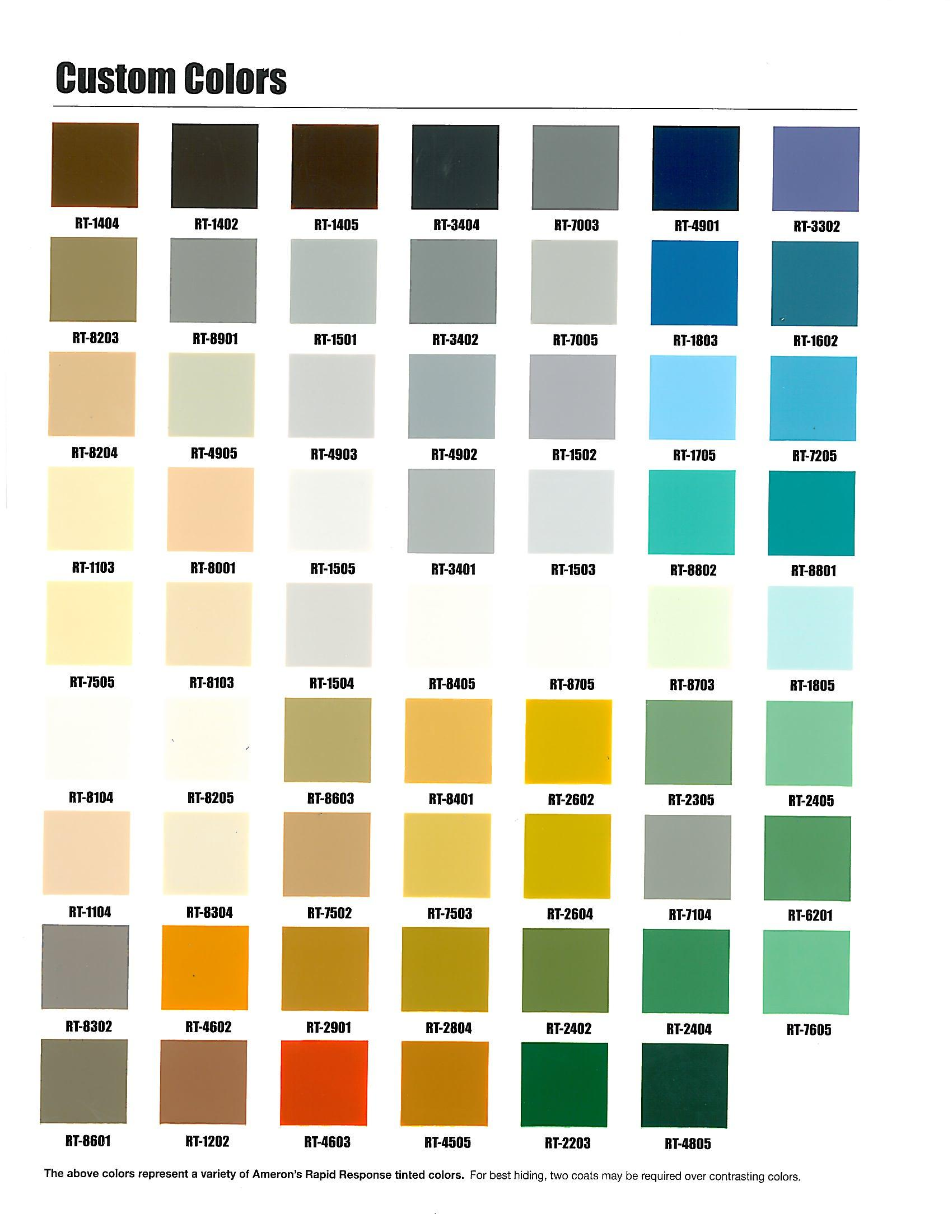 Ppg Marine Paint Color Chart