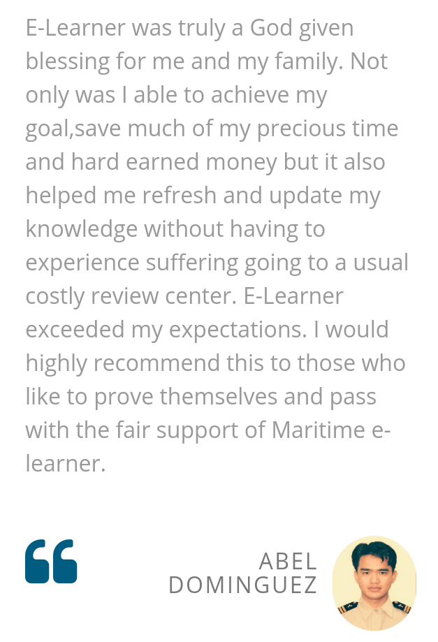 Online maritime review center results and testimonials.
