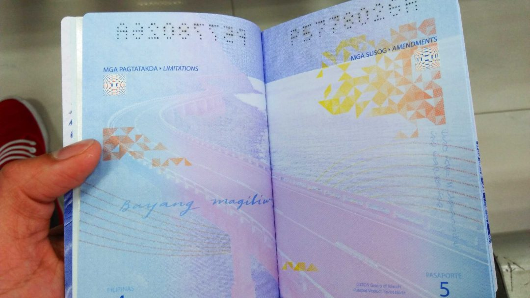 OFW Passport Sample page