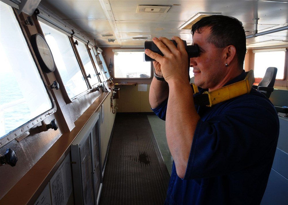 Seaman on the bridge for Navigational watch and lookout duties.