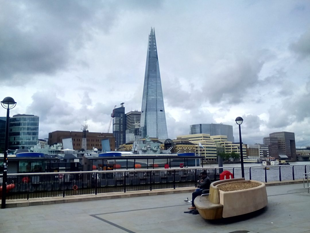 The Shard near the River Thames