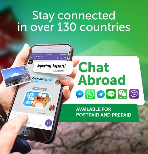 Smart Chat Abroad promo for travelers outside the Philippines