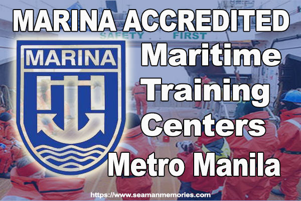 List of MARINA Accredited Maritime Training Centers in Manila 2018