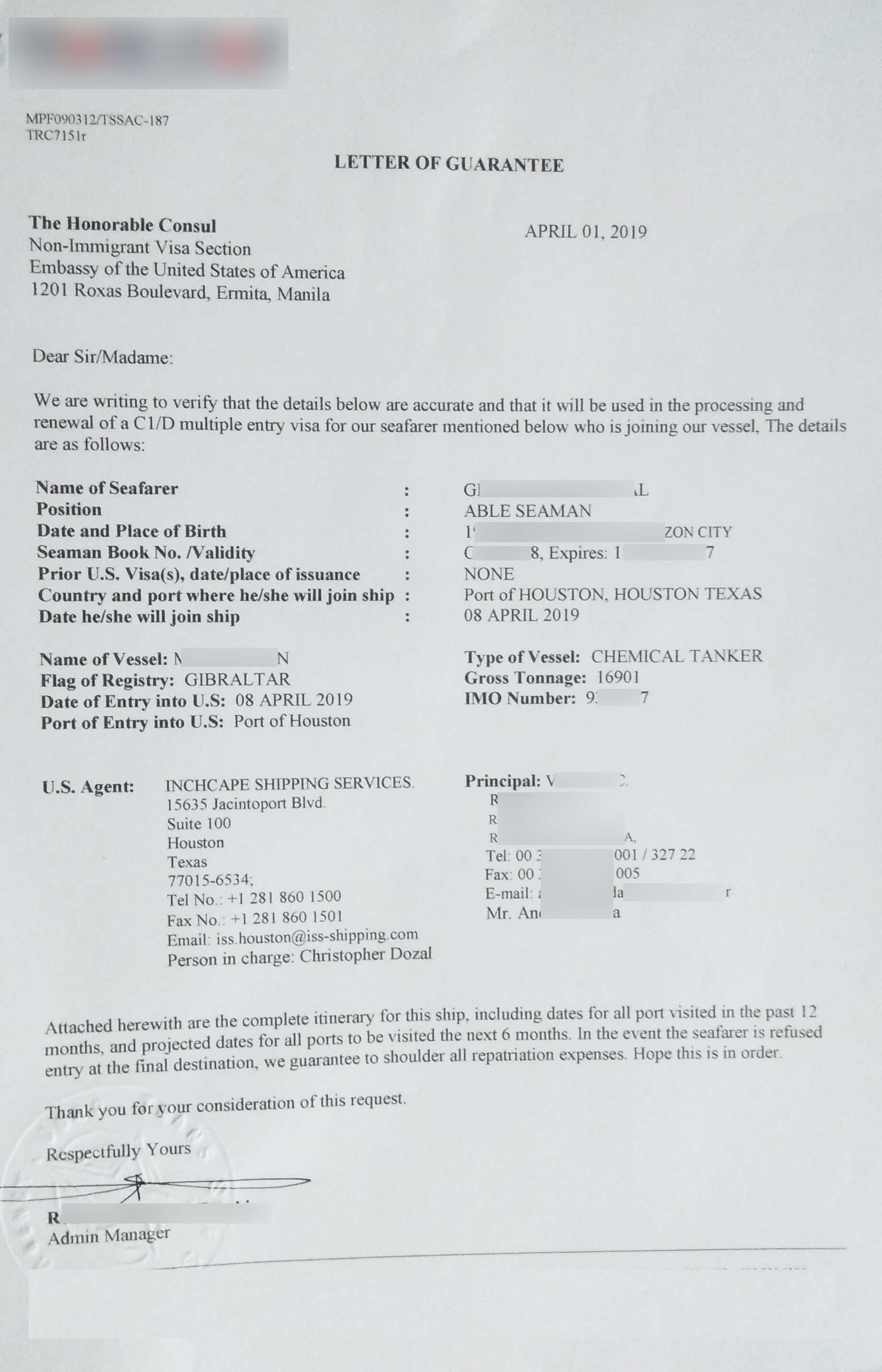 C1/D US Visa Application and Renewal Guide for Seamen