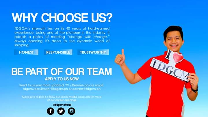 Transnational Diversified Group (TDG Crew Management). One of Disney Cruise Line's Hiring Partners in the Philippines