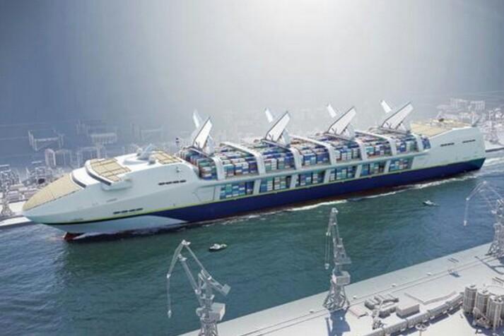 Autonomous container ship design for the future.