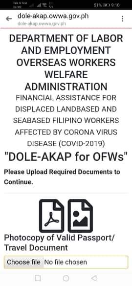 Uploading Documents for review to get your DOLE-AKAP 10K financial assistance