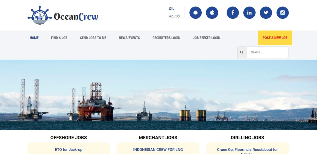Maritime and Offshore jobs from OceanCrew