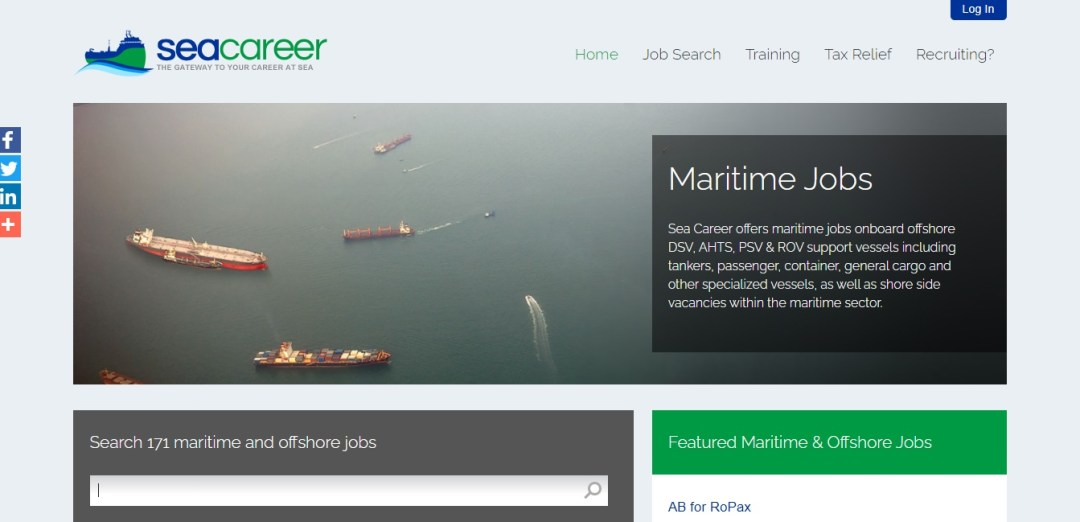 SeaCareer - The Gateway to your career at sea. One of the best seaman jobsites in the market.