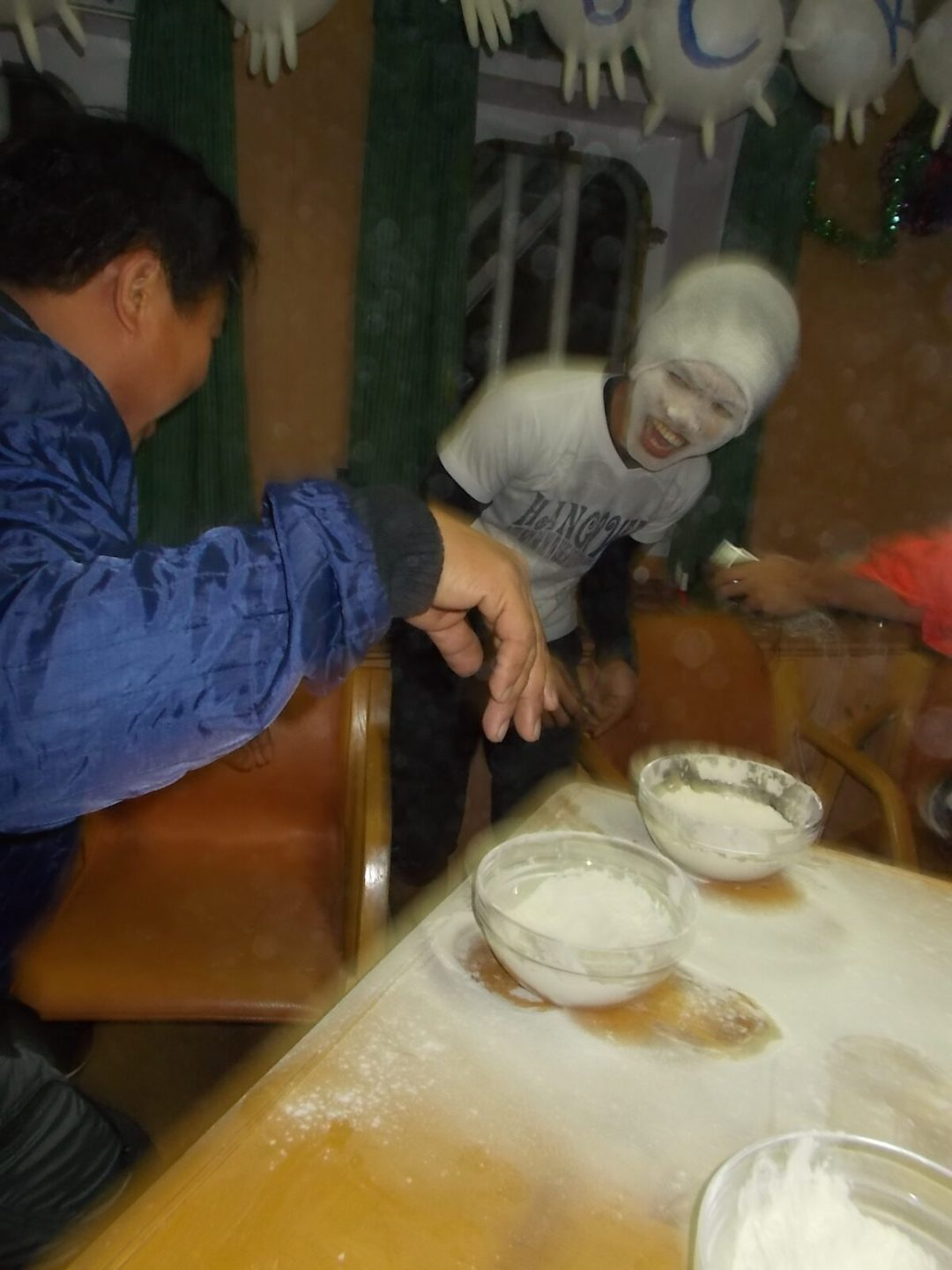 games with starch during Christmas Celebration On board