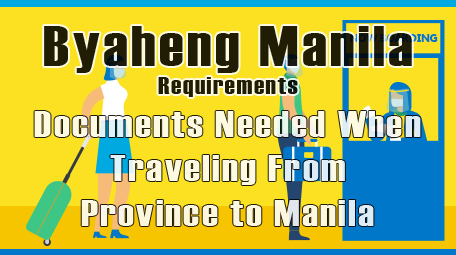 Byaheng Manila Requirements: Documents Needed When Traveling From Province to Manila