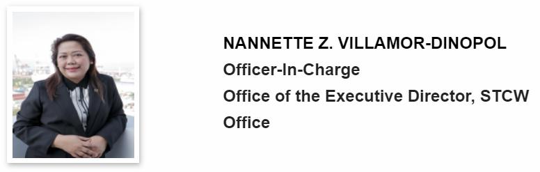 MARINA's Deputy Administrator for Operations Engr. Nannette Z. Villamor-Dinopol