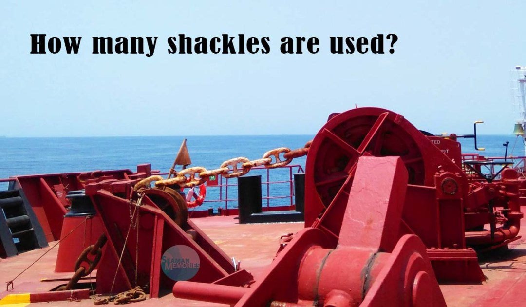 How many shackles are used