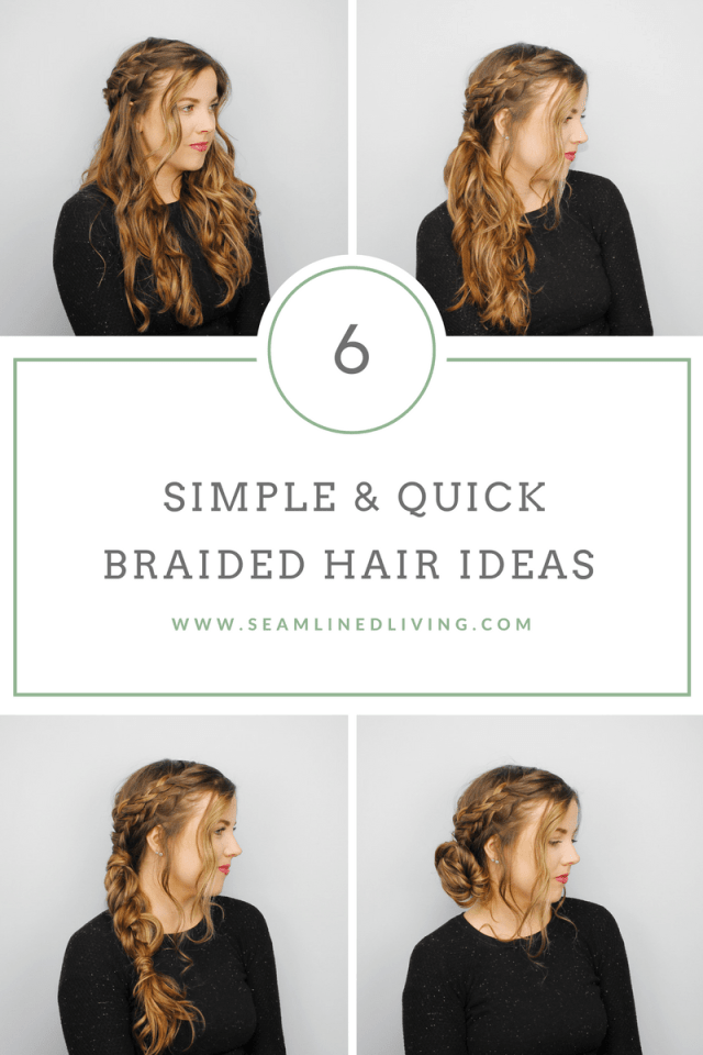 how to create 6 simple braided hairstyles after you curl