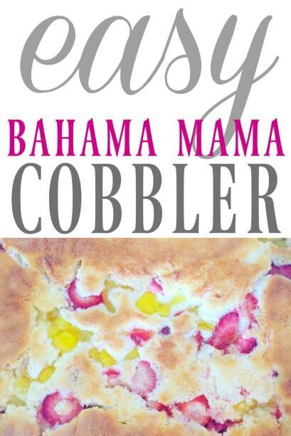 Bahama Mama Cobbler Recipe