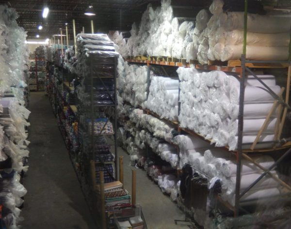 A tiny part of Camelot Fabrics' warehouse.