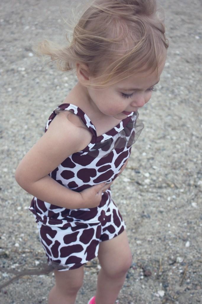 power mesh ruffle swimsuit tank and swim short for girls