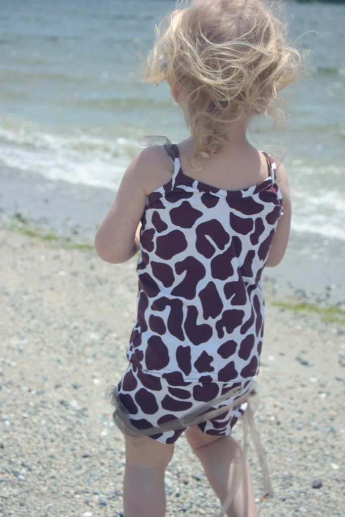 ruffle little girls swim tank and shorts sewing pattern
