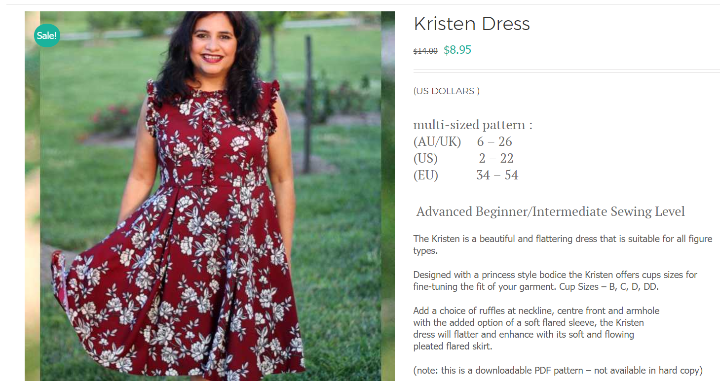 39243d9a22 Designer Stitch Kristen Dress Release Sale - Seams Sew Lo