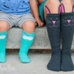 Cozy Critter Socks Halloween Sewing Pattern by Peek A Boo Patterns