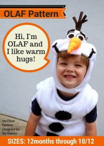 Olaf Halloween Costume Sewing Pattern
