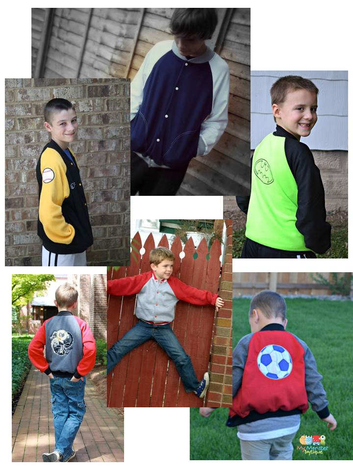 Spirit Jacket Halloween Sewing Pattern by Coles Creations boys Version