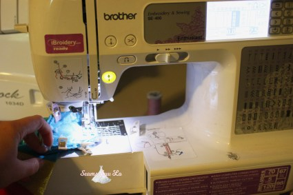 making baby leg warmers with a brother se400 sewing machine