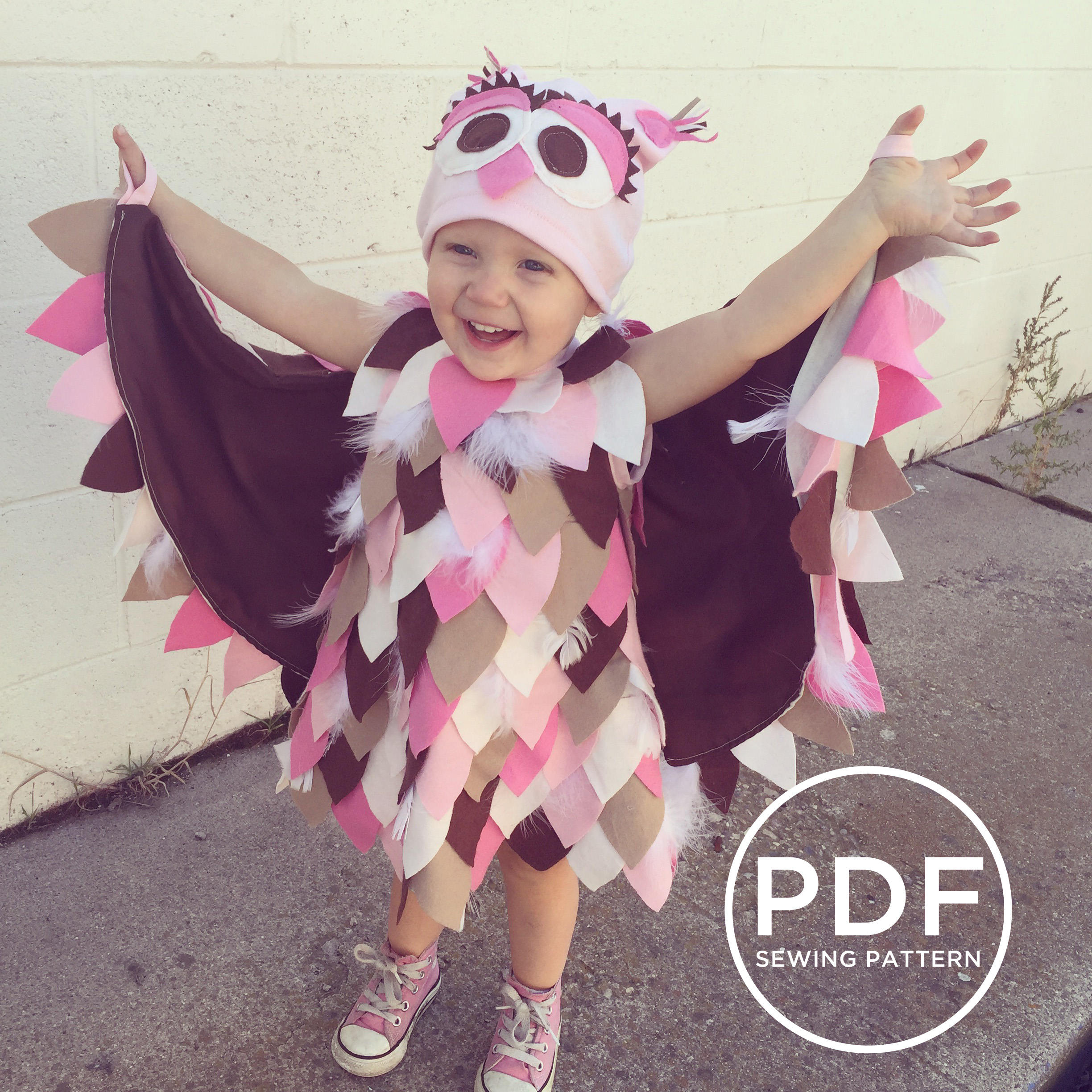 owl halloween costume sewing pattern
