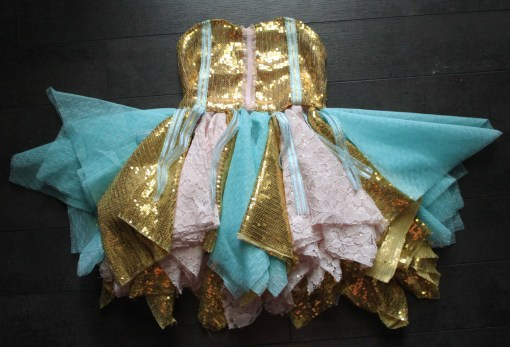 pink and gold birrhday dress