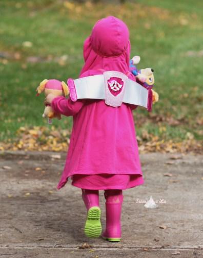 pink dog Skye Paw Patrol Halloween costume wings