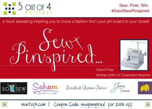 Sew Inspired Contest and Sale by 5 Out of 4 Patterns