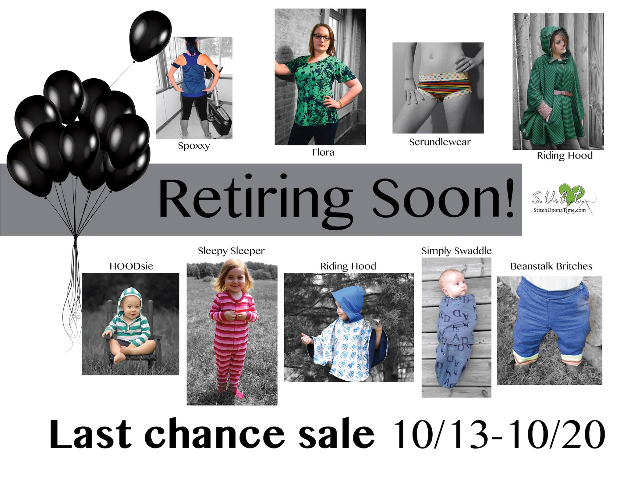 stitch upon a time sewing pattern retirement sale