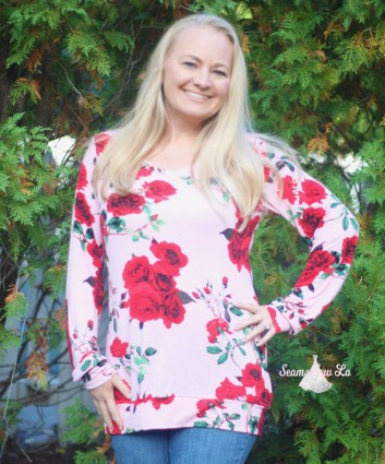 womens fall in love sweater sewing pattern by ellie and mac