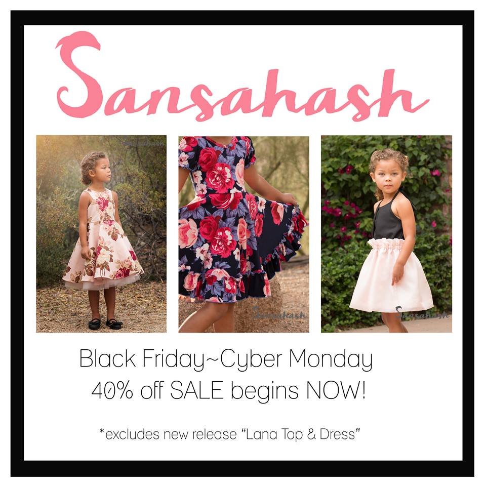 Black Friday Sale Sansahash sewing patterns