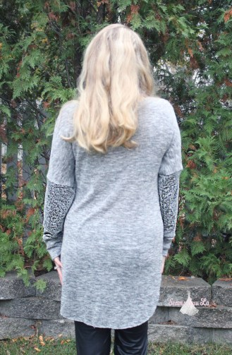Petite stitchery Lulu Dolman Sewing Pattern women gray sweater knit 6