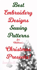 best Embroidery designs for childrens Christmas Presents