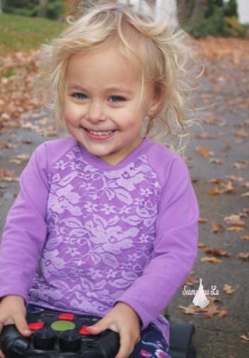 ellie and mac unisex raglan with purple lace 5