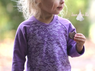 ellie and mac unisex raglan with purple lace 7